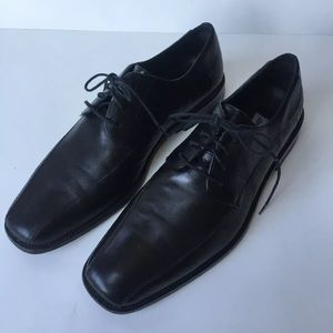 Men's Johnston Murphy Sz 12 black leather oxfords